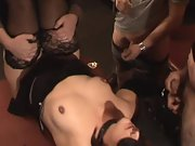 Strangers fucking me over a table at a insatiable soiree