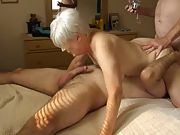 Senior mom gets licked and fucked