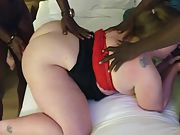 Wondrous  cougar eva fucks big black dick boyfriends and loves every minute of it