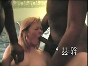 Cheating wife vhs porn tape with two black men husband directs
