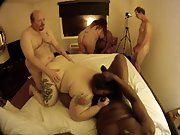 Fat mature women participating in an black bull orgy