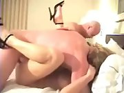 Sharing wife with frienda in super hot 4some