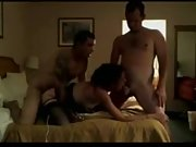 Hot wife boinks her spouse and his friend in a three-way