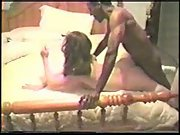 Hotwife husband filming killer wife breeding with two black men and anal invasion