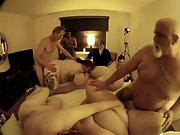 Meaty chubby mature gangbang older swingers showing they still do it